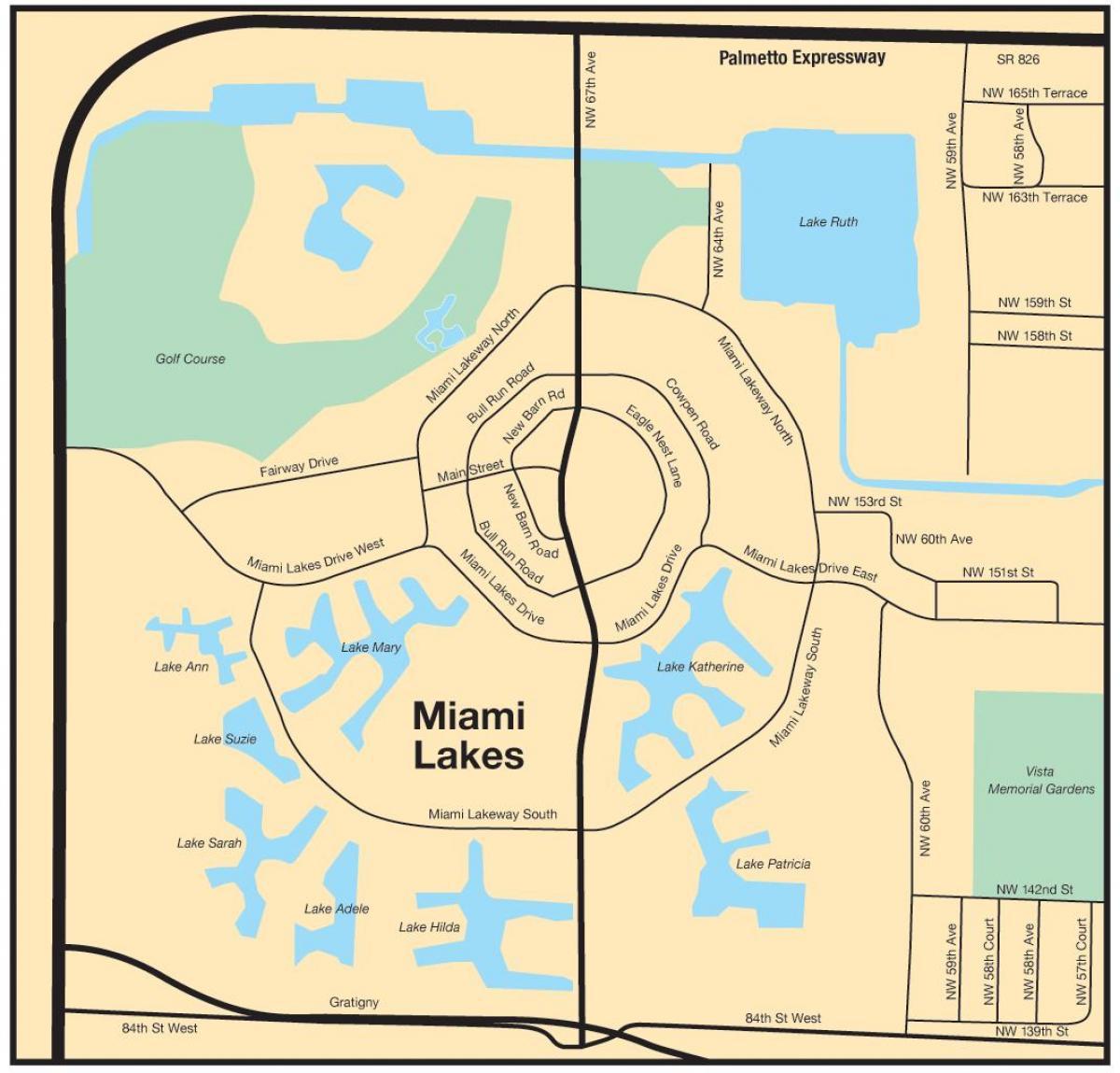 miami térkép Miami lakes térkép   Térkép Miami lakes (Florida USA) miami térkép