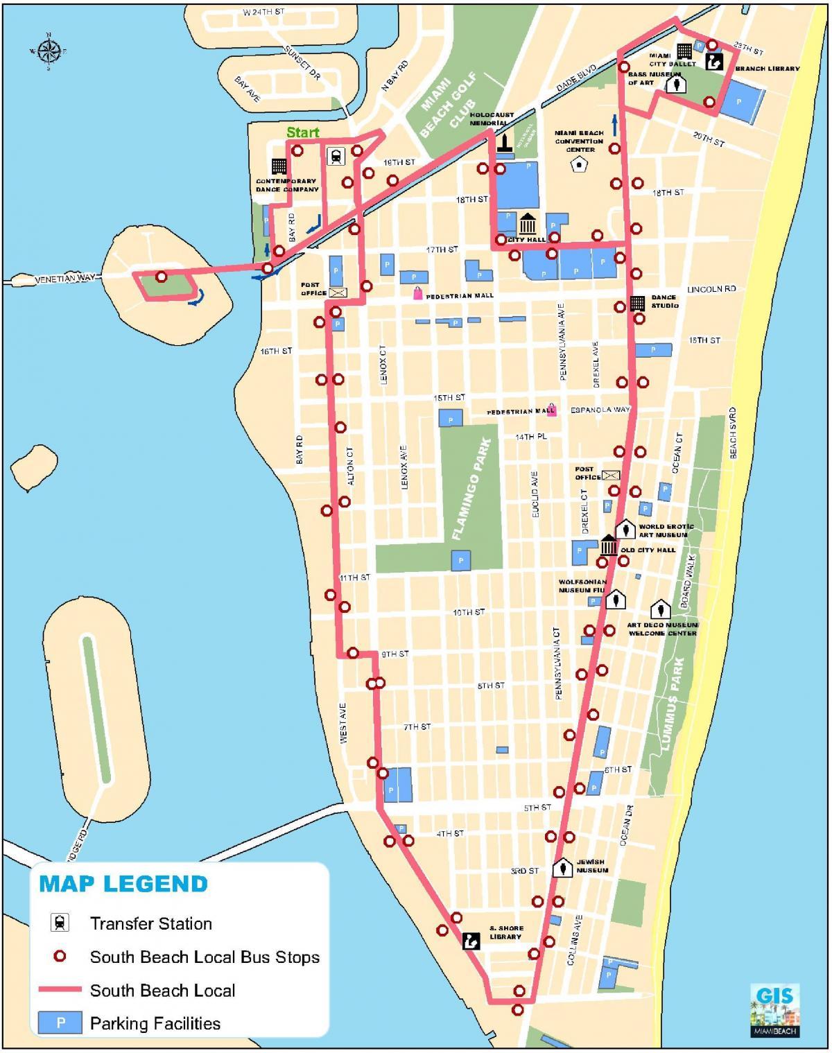 miami térkép South beach, Miami térkép   Térkép south beach, Miami (Florida USA) miami térkép